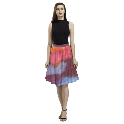 Colour Harmony Melete Pleated Midi Skirt (Model D15)