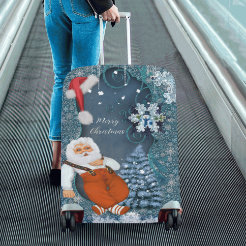 """Funny Santa Claus Luggage Cover/Large 26""""-28"""""""