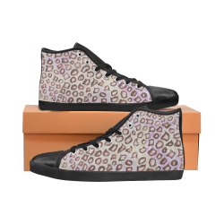 Leopard Skin design from Painting High Top Canvas Women's Shoes/Large Size (Model 002)