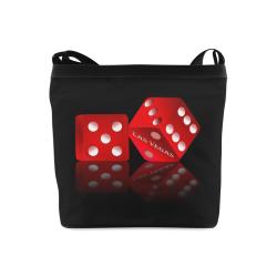 Las Vegas Craps Dice on Black Crossbody Bags (Model 1613)