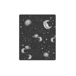 "Mystic Stars, Moon and Sun Blanket 40""x50"""