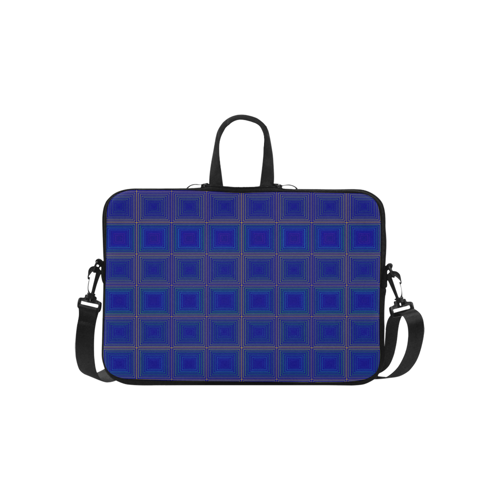 """Royal blue golden multicolored multiple squares Classic Sleeve for 15.6"""" MacBook Air"""