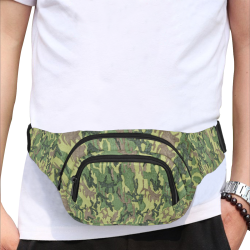 Military Camo Green Woodland Camouflage Fanny Pack/Small (Model 1677)