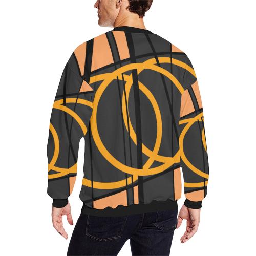 clockwork orange 180 Men's Oversized Fleece Crew Sweatshirt (Model H18)