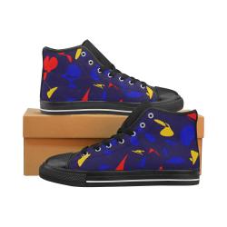 zappwaits g5 Men's Classic High Top Canvas Shoes (Model 017)