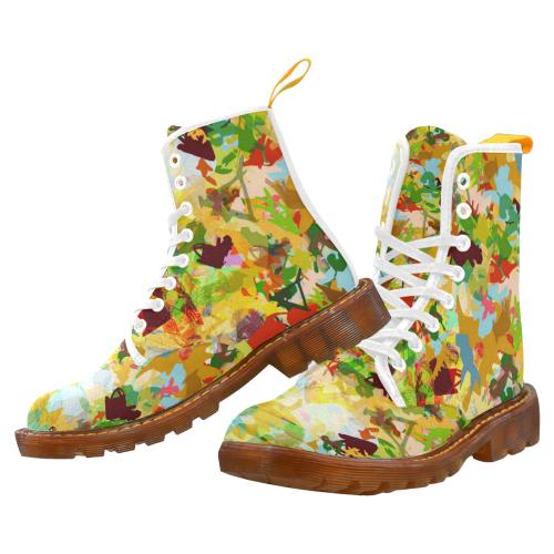 Roger Shape Language Print #1 Martin Boots For Women Model 1203H