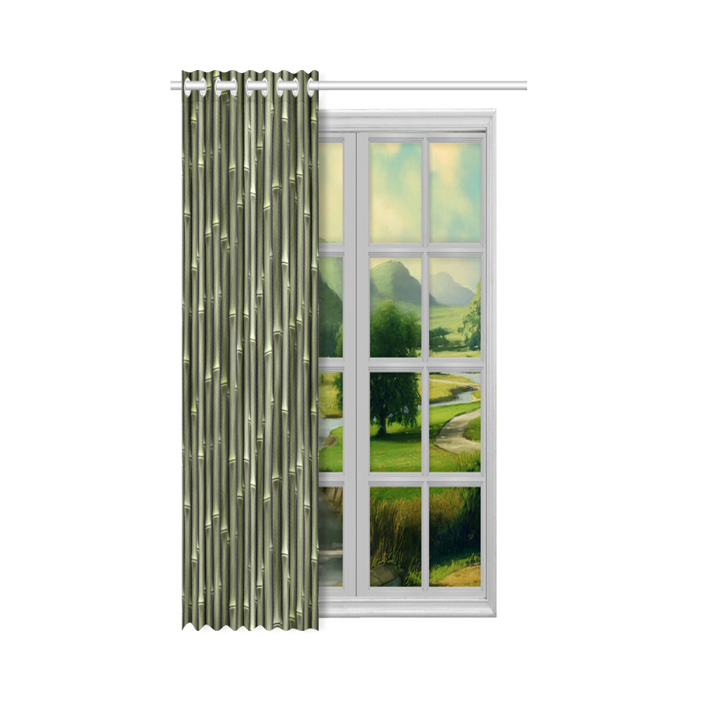 """Bamboo forest New Window Curtain 50"""" x 84""""(One Piece)"""