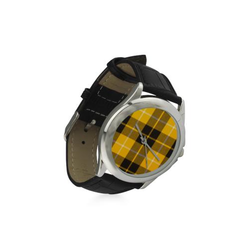 BARCLAY DRESS LIGHT MODERN TARTAN Women's Classic Leather Strap Watch(Model 203)