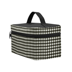 Stylish Black White Penthouse Cosmetic Bag/Large (Model 1658)