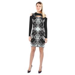 Heraldry Cold Shoulder Long Sleeve Dress (Model D37)