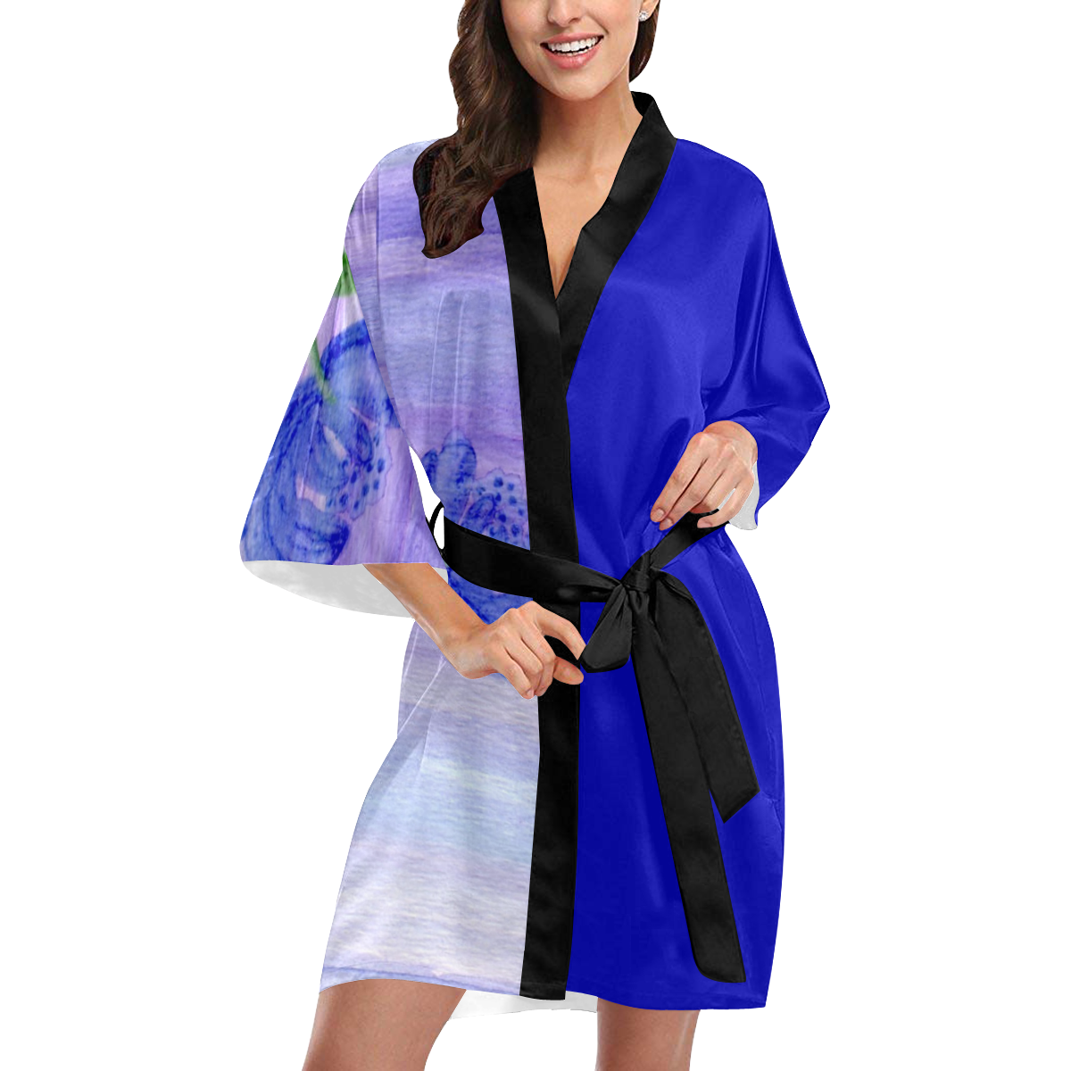 Mum Flower Kimono Robe
