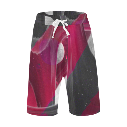 Maroon Night Crew Men's All Over Print Casual Shorts (Model L23)
