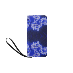 Blue and White Hearts  Lace Fractal Abstract Women's Clutch Purse (Model 1637)