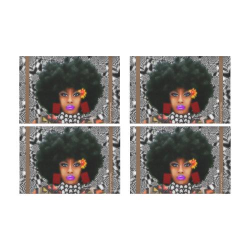 FUEL UP 4pc tab mat bro Placemat 12'' x 18'' (Four Pieces)