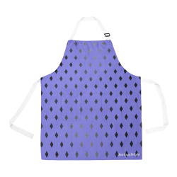 Fairlings Delight Royal Collection- Purple Black Diamonds 53086 All Over Print Apron All Over Print Apron