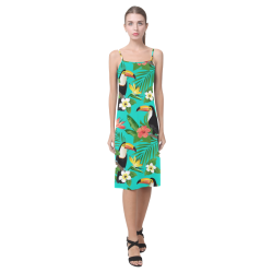 Tropical Summer Toucan Pattern Alcestis Slip Dress (Model D05)