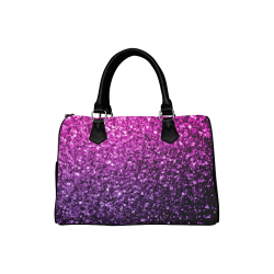 Beautiful Purple Pink Ombre glitter sparkles Boston Handbag (Model 1621)