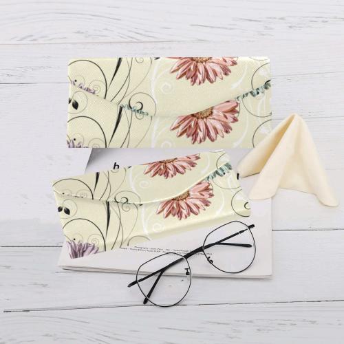 Flowers on Yellow Custom Foldable Glasses Case