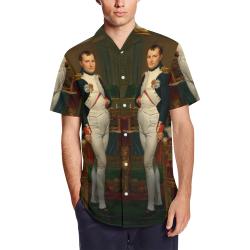 Napoleon Bonaparte 7A Men's Short Sleeve Shirt with Lapel Collar (Model T54)