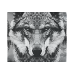 """Wolf Animal Nature Cotton Linen Wall Tapestry 60""""x 51"""""""