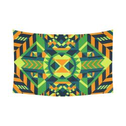"Modern Geometric Pattern Cotton Linen Wall Tapestry 90""x 60"""