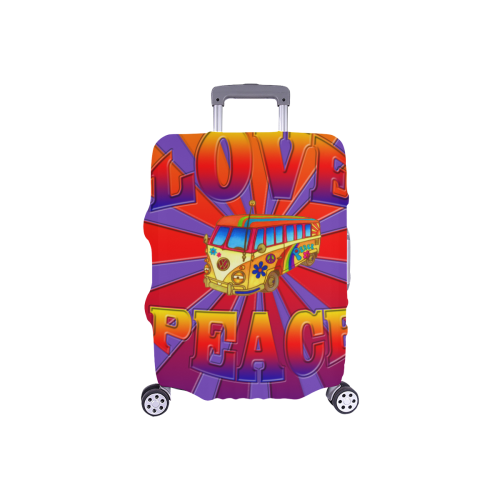 "Hippie Love and Peace Luggage Cover/Small 18""-21"""