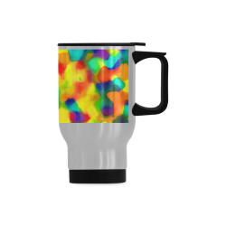 Colorful watercolors texture Travel Mug (Silver) (14 Oz)