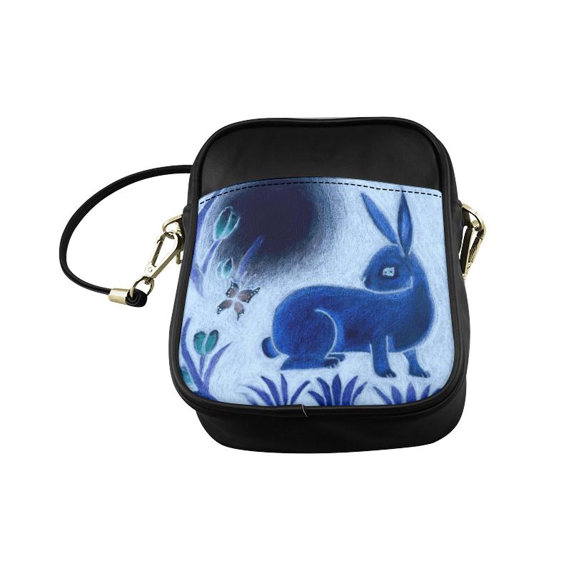 Rabbit Tapestry Sling Bag (Model 1627)