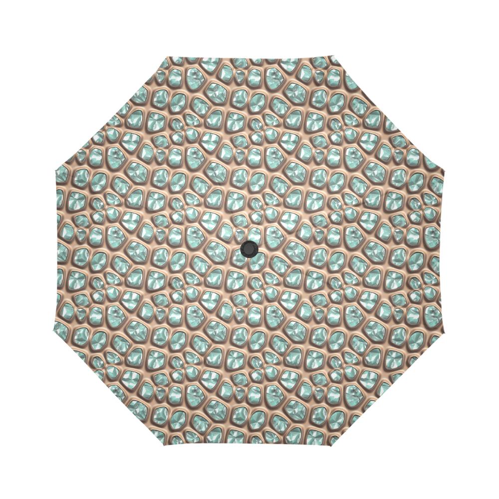Green crystals Auto-Foldable Umbrella (Model U04)