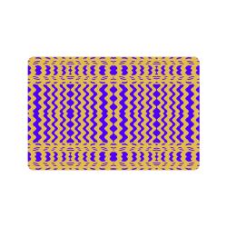 """Purple Yellow Modern  Waves Lines Doormat 24"""" x 16"""""""