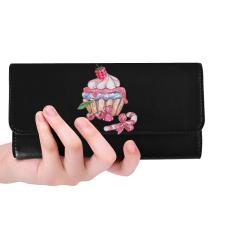 cupcake Women's Trifold Wallet (Model 1675)