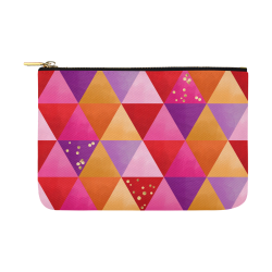 Triangle Pattern - Red Purple Pink Orange Yellow Carry-All Pouch 12.5''x8.5''