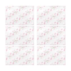 Pattern Orchidées Placemat 12'' x 18'' (Six Pieces)