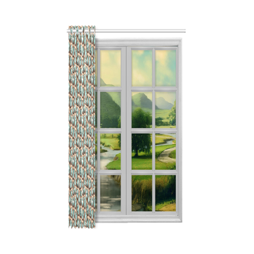 """Green crystals New Window Curtain 52"""" x 84""""(One Piece)"""