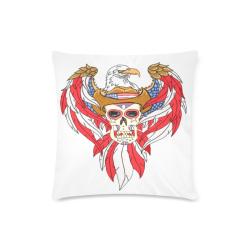 "American Eagle Sugar Skull Custom Zippered Pillow Case 16""x16"" (one side)"