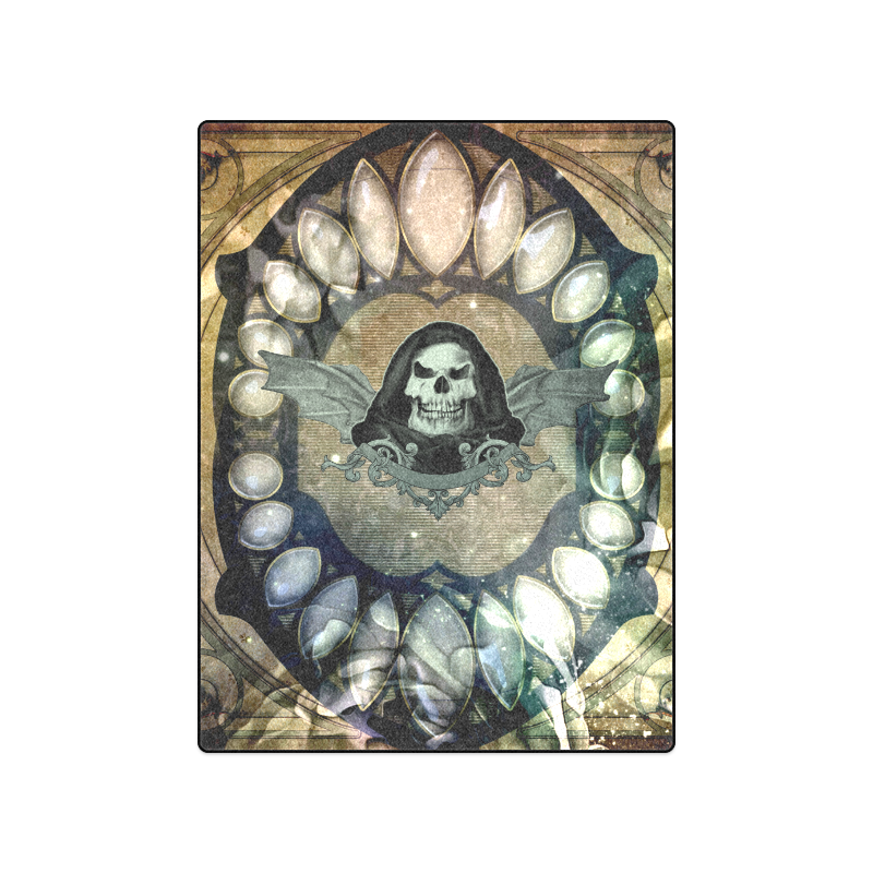 """Awesome scary skull Blanket 50""""x60"""""""