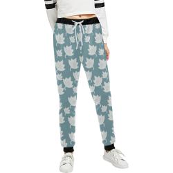 leaves on color ornate Women's All Over Print Sweatpants (Model L11)