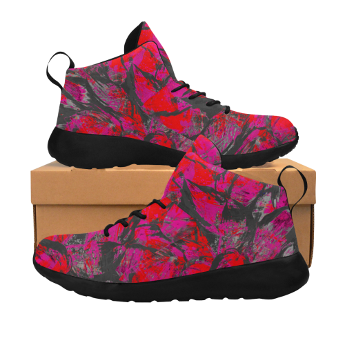 Pink Deep Maroon Night Step Men's Chukka Training Shoes (Model 57502)