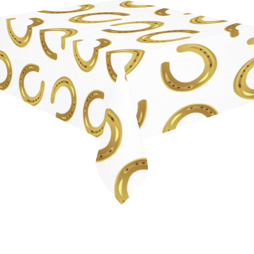 "Golden horseshoe Cotton Linen Tablecloth 52""x 70"""