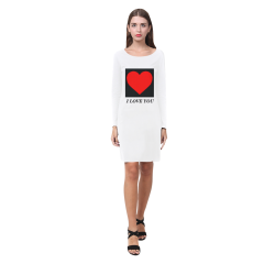 big heart I Love You Demeter Long Sleeve Nightdress (Model D03)