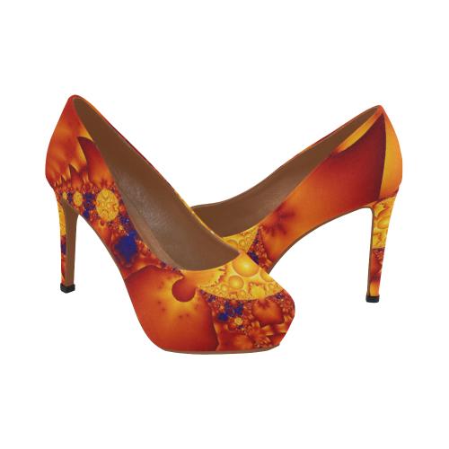 Planetary Fire Women's High Heels (Model 044)