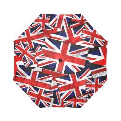 Union Jack British UK Flag Auto-Foldable Umbrella (Model U04)