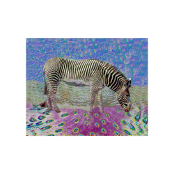 "Dusty Zebra Dreams Poster 20""x16"""