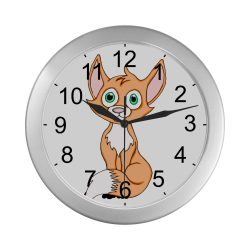 Foxy Roxy Silver Color Wall Clock