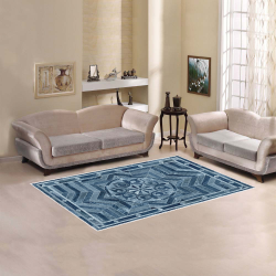 Ayumi Black, Blue Geometric Vintage Area Rug 5'x3'3''