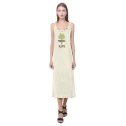 Powered by Plants (vegan) V-Neck Open Fork Long Dress(Model D18)