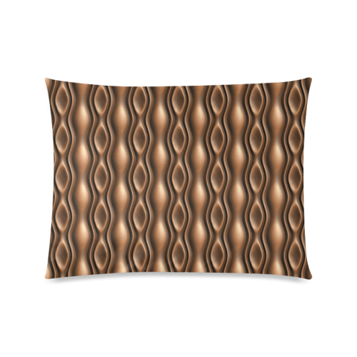 """Brown leather abstract wave Custom Picture Pillow Case 20""""x26"""" (one side)"""