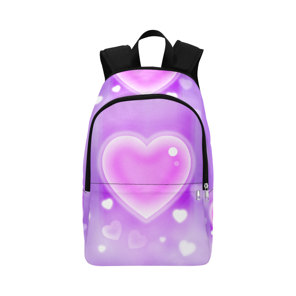 Heart_to_Heart Fabric Backpack for Adult (Model 1659)