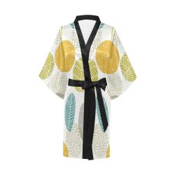 Colorful Leaves Kimono, Modern Kimono Robe