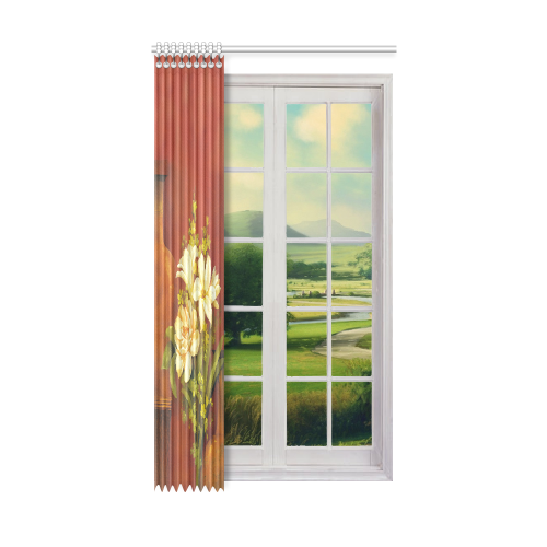 "White Roses Window Curtain 52"" x96""(One Piece)"